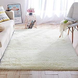 Super Soft Kids Room Nursery Rug 4′ x 6′ Beige Area Rug for Bedroom Decor Living Room Floor Carpets Fur Mat by VaryCarry