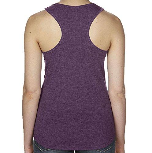 DesignDivil - Camiseta - para mujer Heather Aubergine
