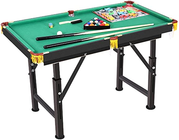 YzDnF Arcade Juegos de Mesa Tabla Creativa Piscina Portátil For Familias con Fácil Plegado For Un Almacenamiento Incluye Pelotas Pollas Tiza (Color : Green, Size : 120x63x59-85cm): Amazon.es: Hogar