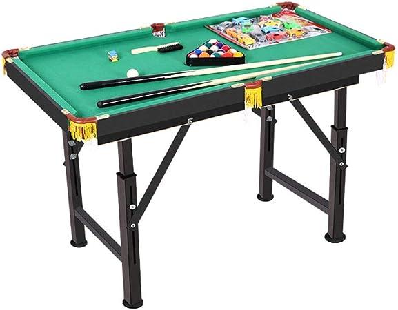 YuYzHanG Mini Mesa De Billar Mesa De Billar Portátil For Proporcionar A Las Familias De Almacenamiento Plegable Sencilla Incluyen Club De Pelota Tiza Table Top Pool Game: Amazon.es: Hogar