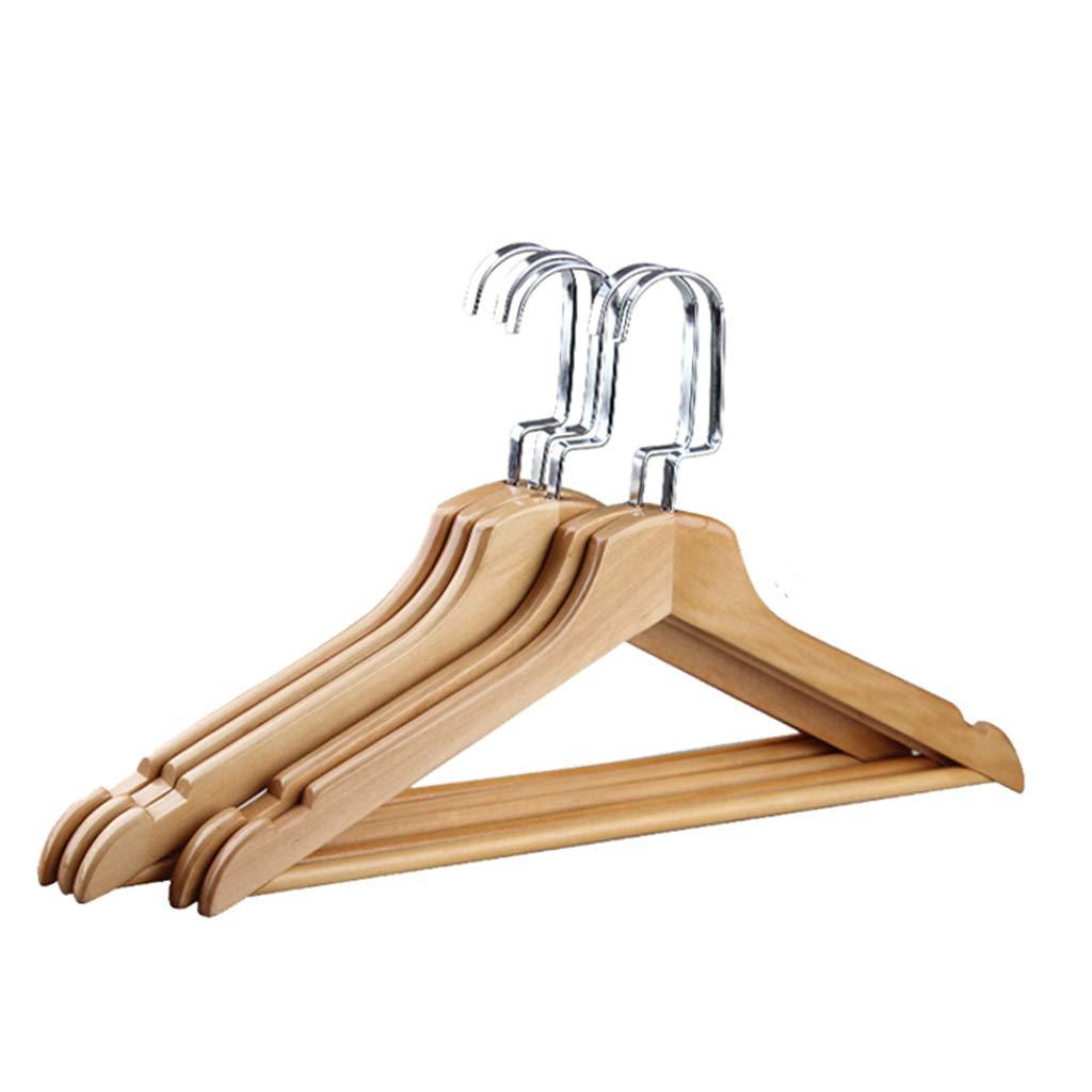 QHD (10 Pieces) Hanger, Multifonctionnel Haute Qualité Cintres en bois massif Hanger (Couleur : Couleur du bois, taille : 40 cm) Multifonctionnel Haute Qualité Cintres en bois massif Hanger (Couleur : Couleur du bois
