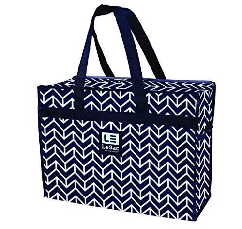 Le Sac Large Heavy Duty Zippered Organizer Storage Tote Bag. Holiday Decor Storage Bag, College Carrying Bag, Large Trunk Organizer, Oversized Storage Bag, Laundry Bag, Camping Bag