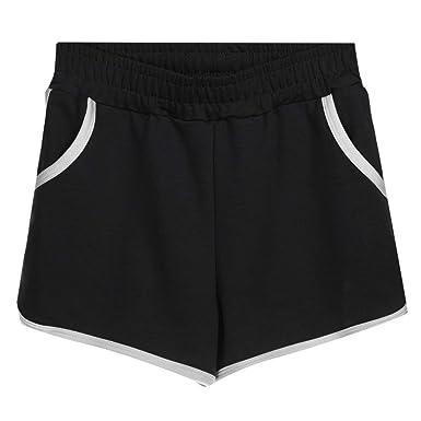 b642bba8bd Amazon.com: Shybuy Yoga Shorts, Yoga Sport Hot Shorts Elastic Waist Summer  Casual Fashion Short Pants: Clothing