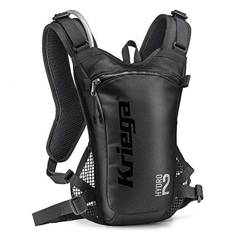 Kriega Hydro 2 Rucksack Wassertasche Trinkbeutel Trinksystem Motocross MX 2 Liter, 6501200 Schwarz