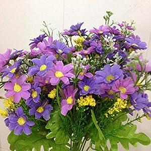 MARJON FlowersWedding Party Home Decor Artificial Fabric Lot Chrysanthemum Bouquet Stem Flower(Light Purple) 47