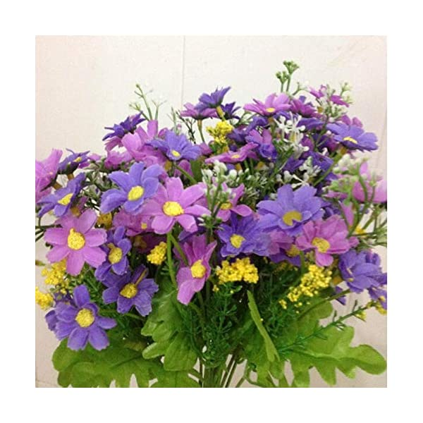 MARJON FlowersWedding Party Home Decor Artificial Fabric Lot Chrysanthemum Bouquet Stem Flower(Light Purple)