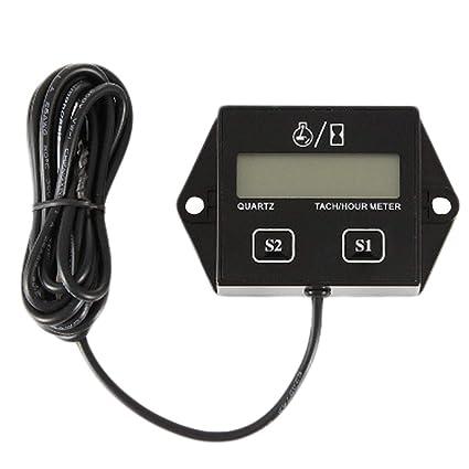 Exhibición inductiva del indicador del tacómetro del Metro de la Hora del tacómetro de Digitaces para