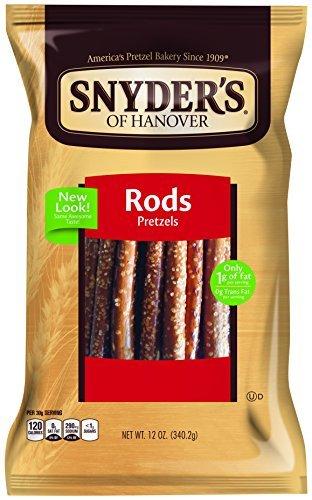 Snyder's of Hanover Pretzel Rods, 12 Ounce (Pack of 12) by Snyder's of - Pretzel Gourmet Rods