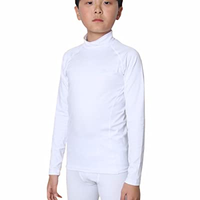 Thermal Underwear Kids Boys Tops Base Layer Compression Shirts Napping LSK