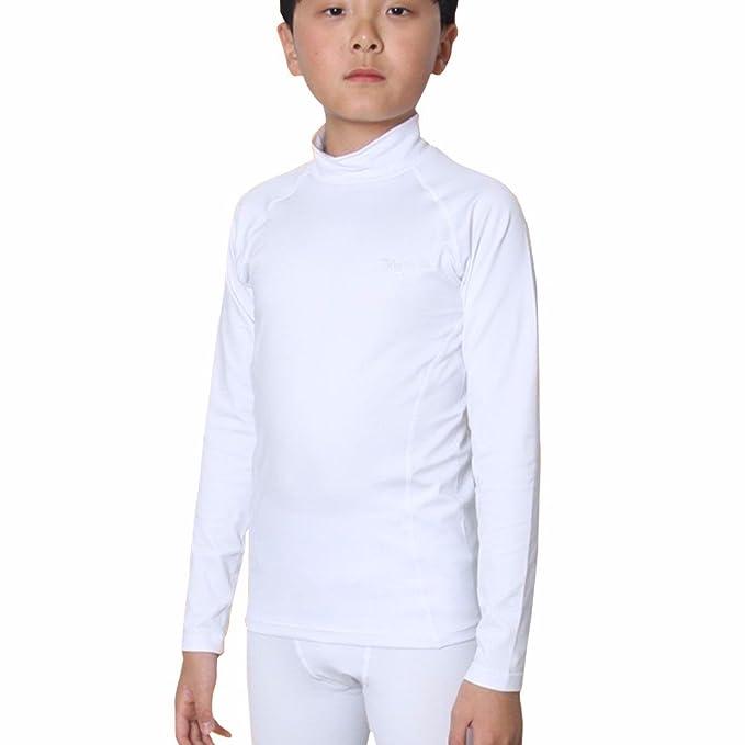 térmicos Kids Boys Tops Base Layer de compresión de camisas para LSK, Niñas, color