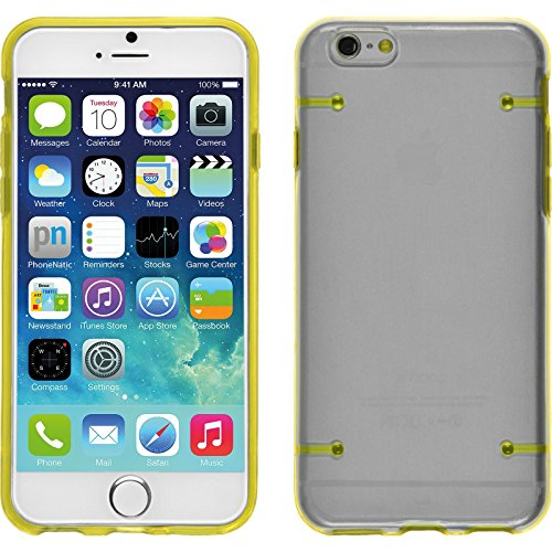 PhoneNatic Case für Apple iPhone 6 Plus / 6s Plus Hülle gelb transparent Hard-case für iPhone 6 Plus / 6s Plus + 2 Schutzfolien