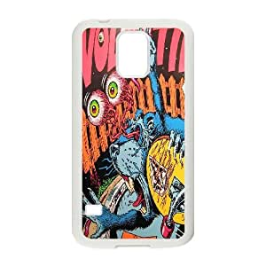 Samsung Galaxy S5 Phone Case White volcom design BVGJ8779408