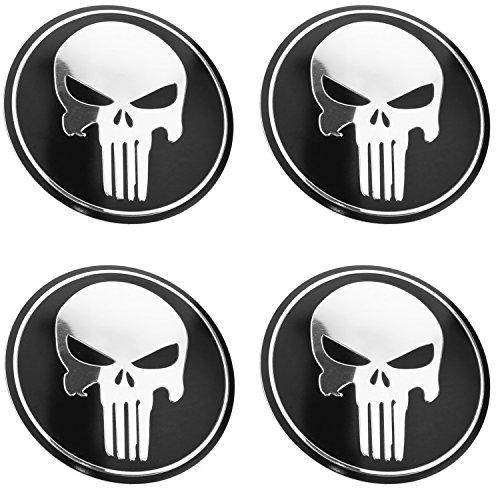 Punisher Skull Wheel Center Caps Hubcaps Set Of 4 pcs 65mm