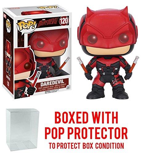 Funko Pop! Marvel: Daredevil Netflix - Daredevil Red Suit Vinyl Figure (Bundled with Pop BOX PROTECTOR CASE)