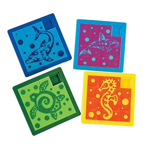 Fun Express - Tropical Tribal Slide Puzzle - Toys - Games - Puzzle Games & Mind Teasers - 12 Pieces ()