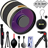 Opteka 500mm f/6.3 Manual Focus High Definition Telephoto Mirror Wild Life Lens for Canon EOS 80D, 77D, 70D, 60D, 7D, 6D, 5D, 7D Mark II, T7i, T6s, T6i, T6, T5i, T5, SL1 & SL2 Digital SLR Cameras