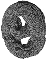 Chunky Knit Infinity Scarf Grey Color