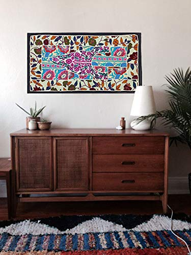- Indian handmade Wall Hanging Bohemian patchwork Tapestries, Headboard tapestries, Runner, WALL Art Embroidered Vintage Tapestry