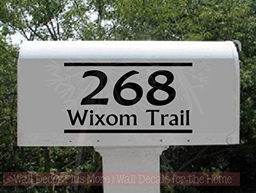 Personalized Vinyl Mailbox Decals Letters Custom Street Address Stickers, Set of 2 Jumbo by Wall Decor Plus More (Image #2)
