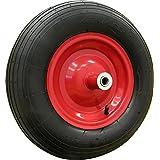 Shepherd Hardware 9606 4.80/4.00-8-Inch Pneumatic Wheelbarrow Tire, 16-Inch, Ribbed Tread, 6-Inch Centered Hub, 5/8-Inch Axle Diameter, Ball Bearing