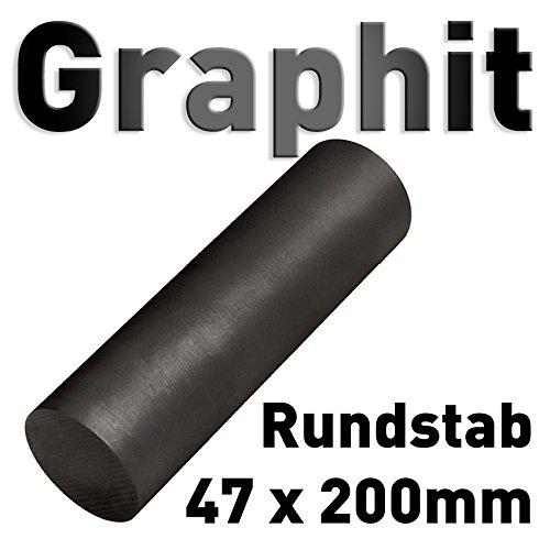 Graphit Rundmaterial 47mm x 200mm lang Zylinder Elektrode Stab Kohlenstoff 8' Polymet - Reine Metalle.