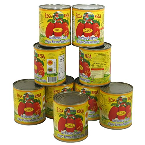 San Marzano DOP Authentic Whole Peeled Plum Tomatoes - 28 oz cans (Pack of 9) (Tomatoes Plum)