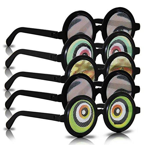 12 x HC-Handel 911614 Spaßbrille Fun 14 cm 5-fach sortiert