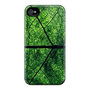 Hot NvB1460CUxe Leaf Veins Tpu Case Cover Compatible With Iphone 4/4s