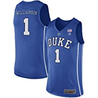 bda5b7d9593 Men s Zion Williamson  1 Duke Devils College Blue Basketball Stitched Jersey