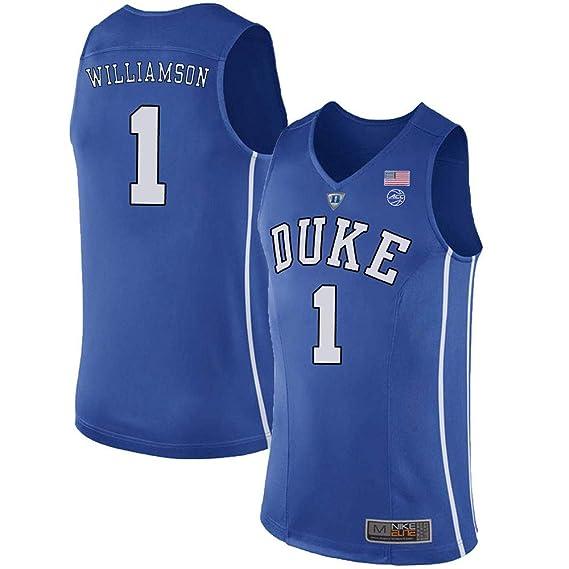 the latest fce78 a2c84 Men's Zion Williamson #1 Duke Devils College Blue Basketball Stitched Jersey