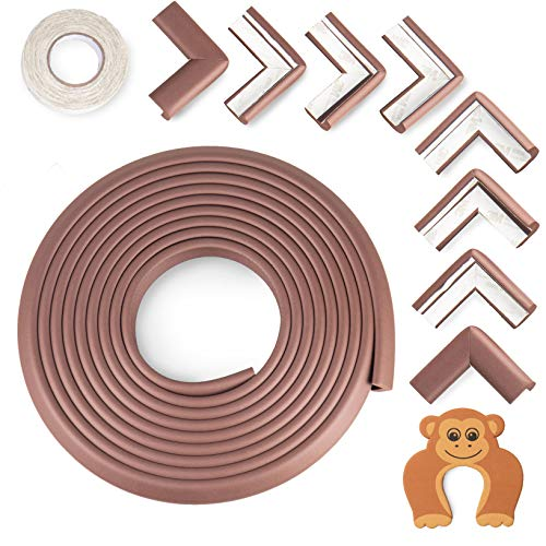 Baby Proofing Edge and Corner Guards: 10 Piece Furniture Safety Set, Coffee Brown