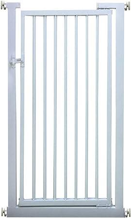 Puertas de bebé Puertas Blancas para Perros con Puerta de Entrada para Mascotas, Puertas Protectoras metálicas de Seguridad para el Metal de Wall Saver, escaleras de 80-140 cm, fácil de configurar: Amazon.es: