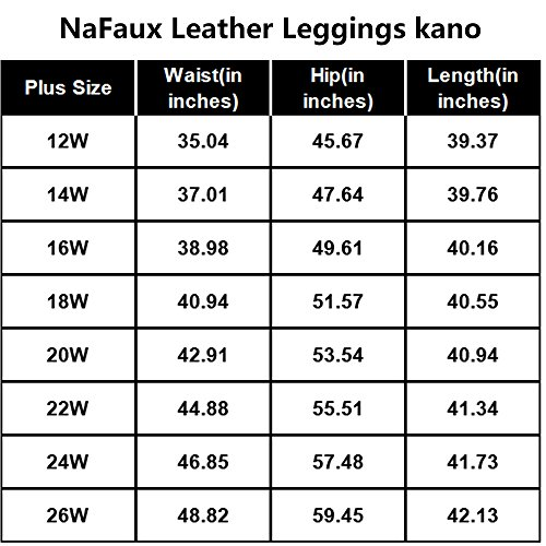 825eb1f6 Astra Signature Women's Plus Size High Waist Nakano Faux Leather Leggings  Tight Stretchy Rider Leggings Pants