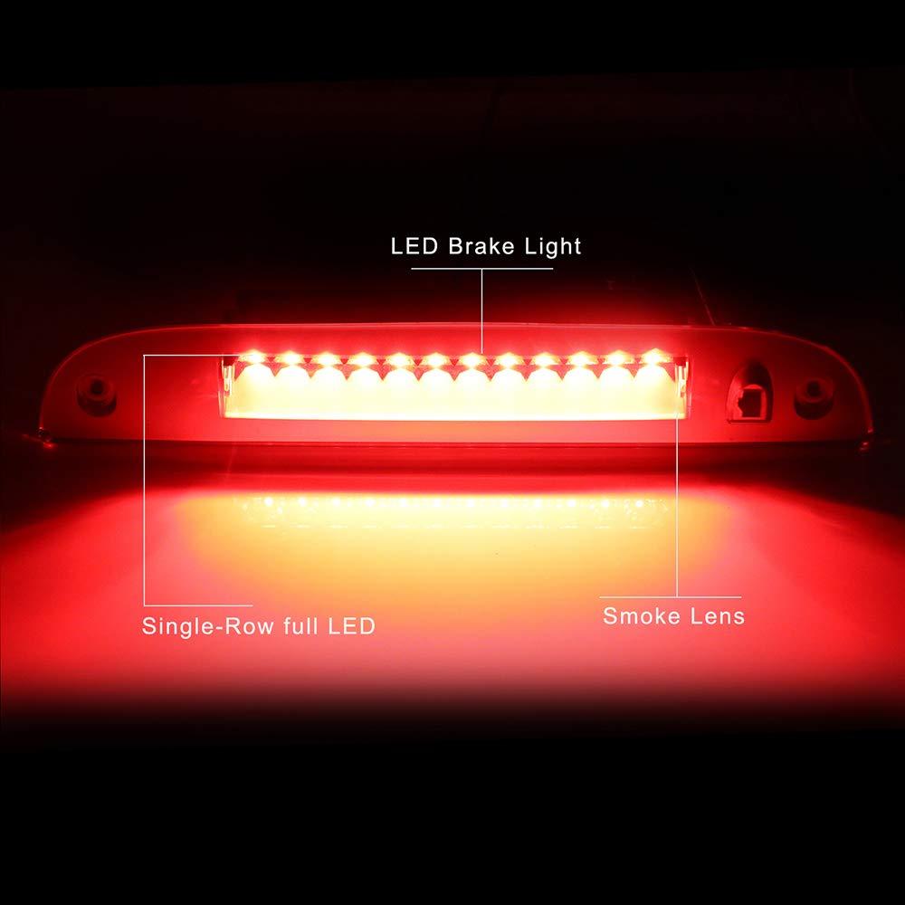 ECCPP LED 3rd High Mount Brake Light Brake Light Cargo Light fit for 2002-2010 Ford Explorer Smoke Lens LED Light