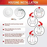 OSTWIN (4 Pack) 4 Inch LED Disk Light, Dimmable Low