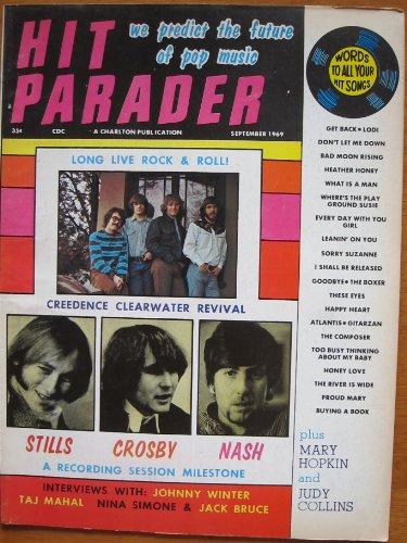 Hit Parader Magazine CREEDENCE CLEARWATER REVIVAL The Cream CSN Johnny Winter HOLLIES NINA SIMONE Dells CROSBY STILLS & NASH September 1969 C (Hit Parader Magazine)