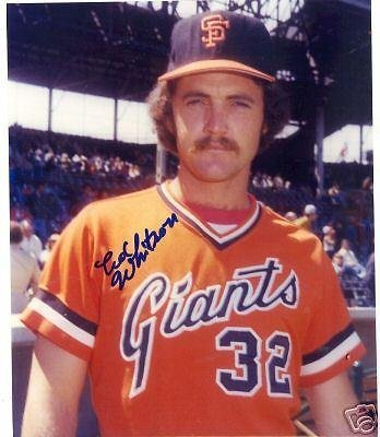 Ed Autographed 8x10 Photo - Autographed Ed Whitson Photo - 8x10 W coa - Autographed MLB Photos