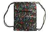 Custom Personalized Fashion Print String Backpack, Zipper Front Pocket (Personalized, Music Notes – 3058) Review