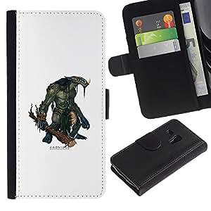 JackGot ( Cronigas )Samsung Galaxy S3 MINI i8190 (NOT S3) la tarjeta de Crédito Slots PU Funda de cuero Monedero caso cubierta de piel