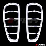 A-PADS 2 Chrome Tail Light Covers For 2004-2011 GMC CANYON - Rear Back Lights Cover Pair Taillight