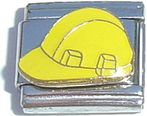 Yellow Hard Hat Italian Charm