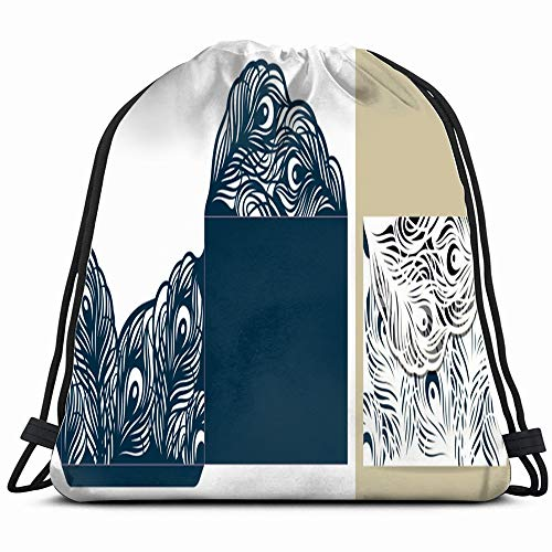 Laser Cut Template Lace Envelope Die Vintage Drawstring Backpack Sports Gym Bag For Women Men Children Large Size With Zipper And Water Bottle Mesh Pockets