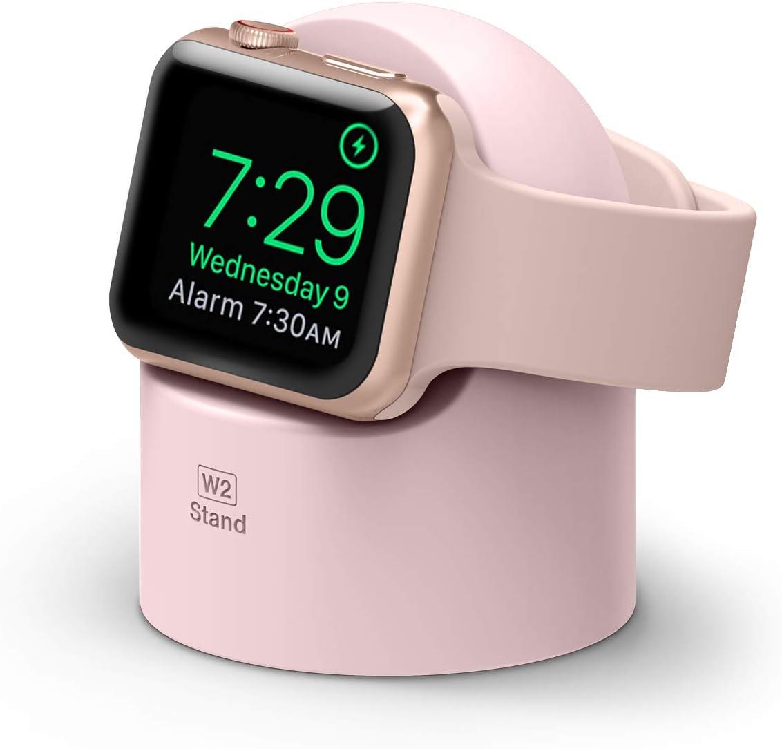 elago W2 Soporte Apple Watch Compatible con Apple Watch Series 6, SE (2020), 5, 4, 3, 2, 1 / 44mm, 42mm, 40mm, 38mm y el Modo de Nightstand (Lovely Rosa)