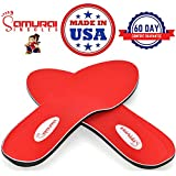 Samurai Insoles Instant-Relief Orthotics for Flat Feet - Plantar Fasciitis, Pain Relief Guaranteed!