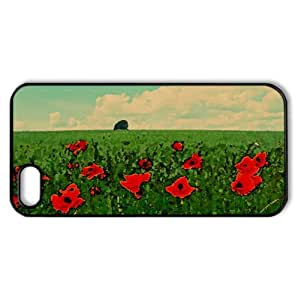 Field Of Poppies Watercolor style Cover iPhone 5 and 5S Case (Landscape Watercolor style Cover iPhone 5 and 5S Case)