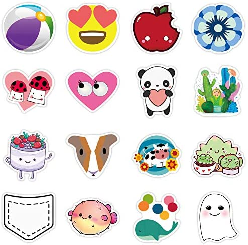 STICON 100 Pieces Stickers for Water Bottles Vinyl Stickers Waterproof Laptop Stickers Pack Cute Aesthetics Stickers for Cups Phone Case Stickers for Kids Girls Teens Decal Graffiti Patches
