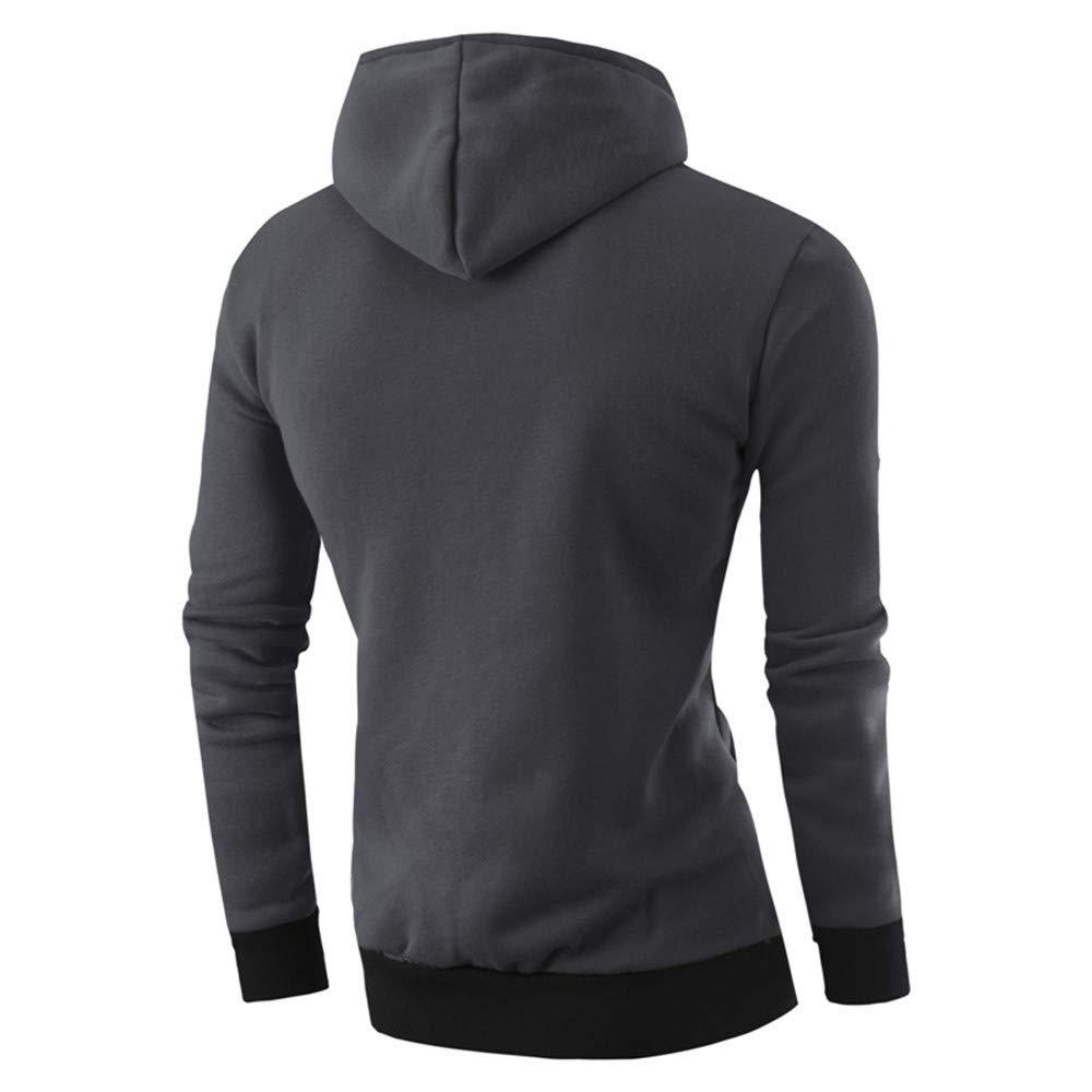 Chaqueta de Hombre de BaZhaHei, Chaqueta de la Chaqueta de suéter de Cremallera Informal de los Hombres de Camisetas de la Blusa con Capucha Superior de la ...