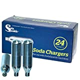 Soda Sparkle Co2 Gas Seltzer Cartridges Compatible w/ SodaSparkle Soda Maker, 24-Chargers