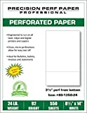 550 Sheets, Legal Size (8.5 x 14) with 3-1/2'' Perforation from Bottom, White 24# Bond Paper