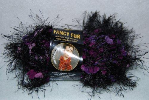 Fancy Fur Yarn Scarves - Lion Brand Fancy Fur Yarn-Purple Passion